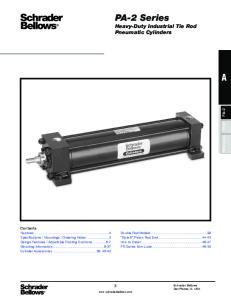 PA-2 Series Heavy-Duty Industrial Tie Rod Pneumatic Cylinders