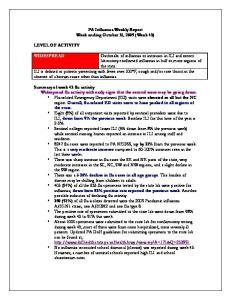 PA Influenza Weekly Report Week ending October 31, 2009 (Week 43)