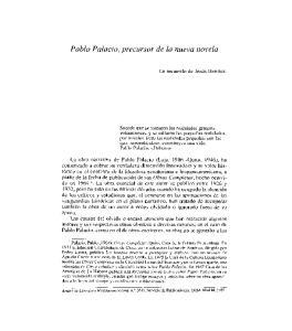 Pablo Palacio, precursor de la nueva novela