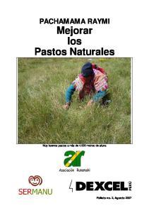 PACHAMAMA RAYMI Mejorar los Pastos Naturales