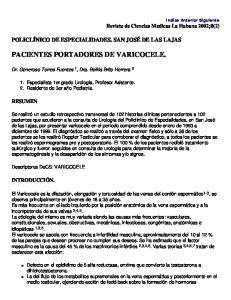 PACIENTES PORTADORES DE VARICOCELE
