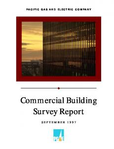 PACIFIC GAS AND ELECTRIC COMPANY. Commercial Building Survey Report