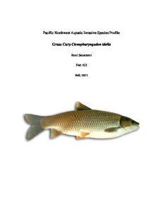 Pacific Northwest Aquatic Invasive Species Profile. Grass Carp Ctenopharyngodon idella