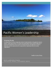 Pacific Women s Leadership