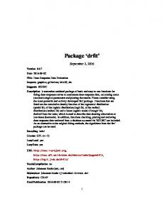 Package drfit. September 2, 2016