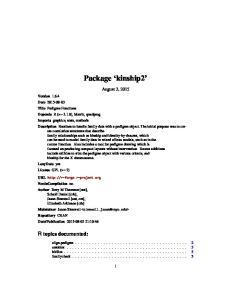 Package kinship2. August 3, 2015