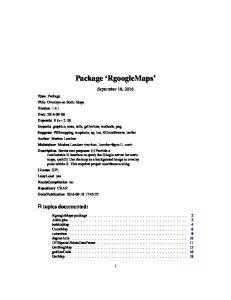 Package RgoogleMaps. September 18, 2016