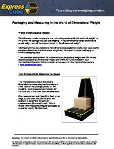 Packaging and Measuring in the World of Dimensional Weight