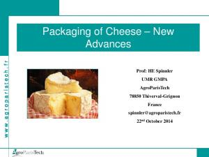 Packaging of Cheese New Advances