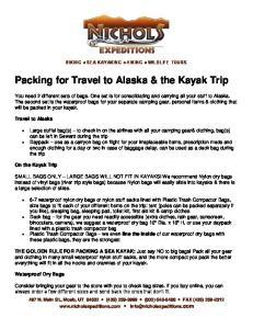 Packing for Travel to Alaska & the Kayak Trip