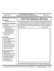 PAC*SJ Celebrates 20 Years