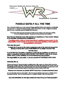 PADDLE SAFELY ALL THE TIME