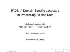 PADS: A Domain-Specific Language for Processing Ad Hoc Data