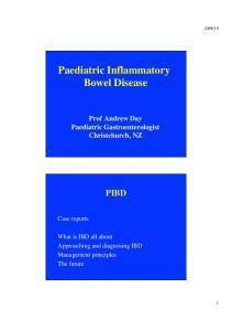 Paediatric Inflammatory Bowel Disease