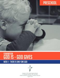 Page 1. god is - god gives