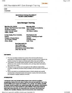 Page 1 of 8. Mike Iosia, M.Ed. Head of Strength and Conditioning Tulane University New Orleans, Louisiana