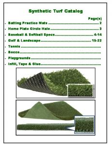 Page 1 Synthetic Turf Catalog