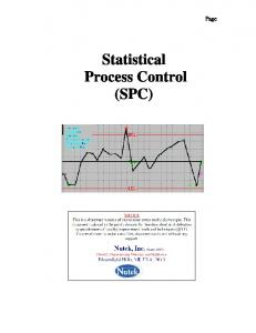 Page. Statistical Process Control (SPC)