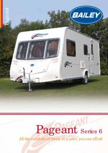 Pageant. Pageant Series 6. All the comforts of home at a price you can afford