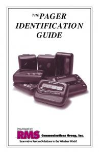 PAGER IDENTIFICATION GUIDE
