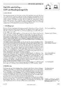 PaGITA mit GeOrg - EDV am Bundespatengericht