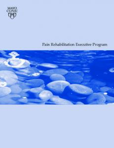 Pain Rehabilitation Executive Program