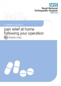 pain relief at home following your operation