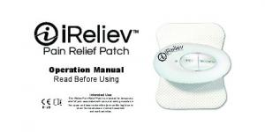 Pain Relief Patch. Operation Manual Read Before Using