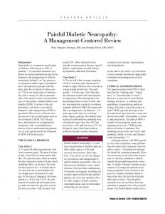 Painful Diabetic Neuropathy: A Management-Centered Review