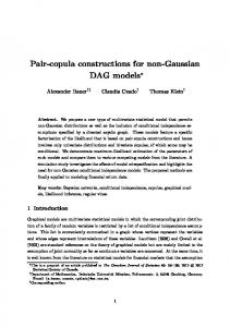 Pair-copula constructions for non-gaussian DAG models