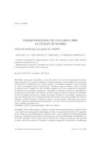 PAISAJE HOLOCENO DE UNA GRAN URBE: LA CIUDAD DE MADRID