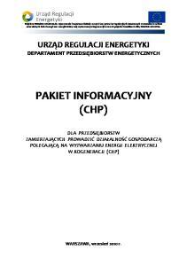 PAKIET INFORMACYJNY (CHP)