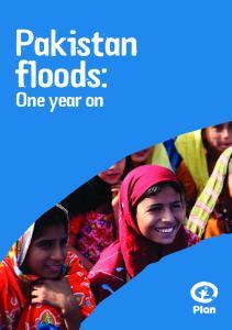 Pakistan floods: One year on
