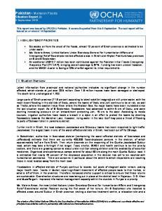 Pakistan Monsoon Floods Situation Report 23 9 September 2010