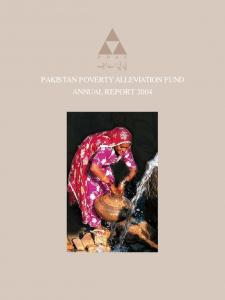 PAKISTAN POVERTY ALLEVIATION FUND ANNUAL REPORT 2004