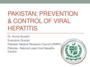 PAKISTAN: PREVENTION & CONTROL OF VIRAL HEPATITIS
