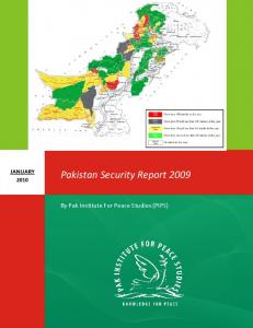 Pakistan Security Report 2009