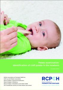 Palate examination: Identification of cleft palate in the newborn