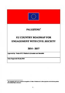 PALESTINE 1 EU COUNTRY ROADMAP FOR ENGAGEMENT WITH CIVIL SOCIETY