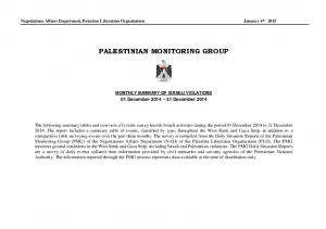 PALESTINIAN MONITORING GROUP