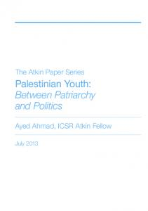 Palestinian Youth: Between Patriarchy and Politics