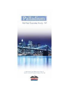 Palladium Multi-Year Guarantee Annuity - NY