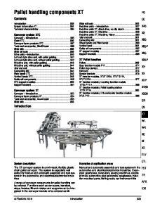 Pallet handling components XT
