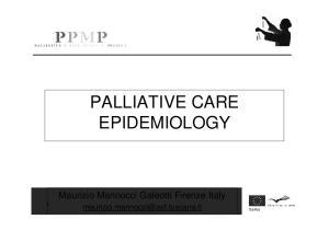 PALLIATIVE CARE EPIDEMIOLOGY