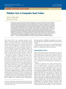 Palliative Care in Congestive Heart Failure