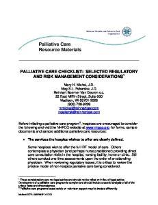 Palliative Care Resource Materials