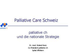 Palliative Care Schweiz
