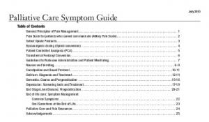 Palliative Care Symptom Guide