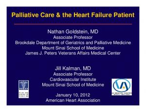 Palliative Care & the Heart Failure Patient