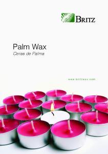 Palm Wax. Ceras de Palma